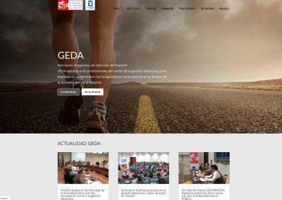 Web de GEDA, responsive y modificable