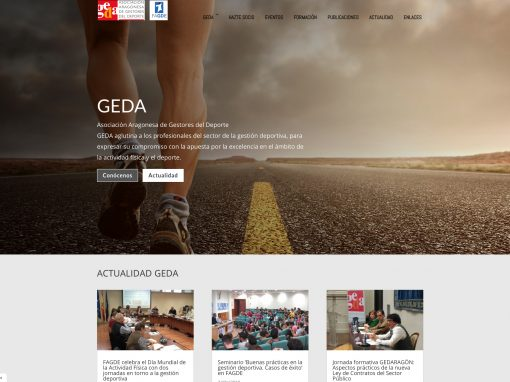 Web de GEDA, responsive y modificable