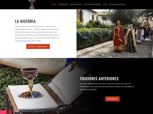Web de la Recreación histórica del Santo Grial de Bailo