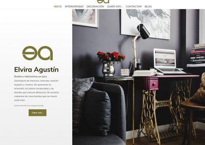 Web corporativa Elvira Agustín · Diseño e Interiores
