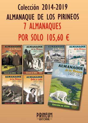Colección 7 volúmenes del Almanaque de los Pirineos 2014-2019