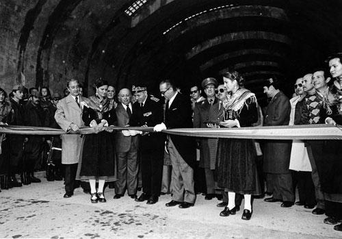 Inauguración túnel de Bielsa. Museo de Bielsa. Fototeca DPH