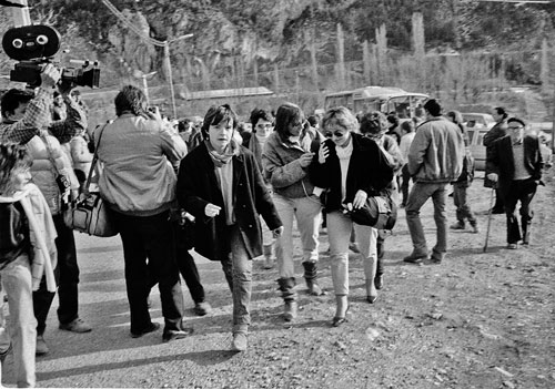 Llegada mujeres a Plan. Victor Ibañez. 1985