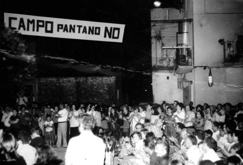 Oposicion al pantano de Campo. Archivo Andalán