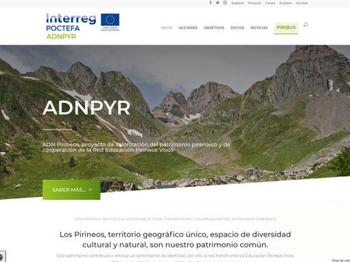Web multi idioma del proyecto ADNPYR Poctefa