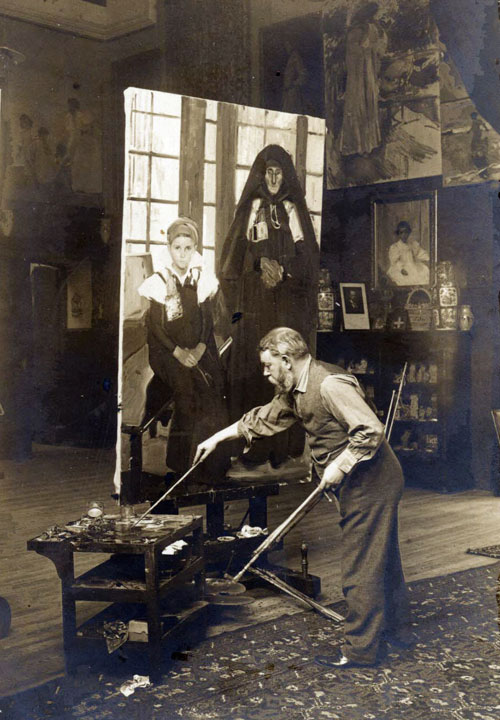 Sorolla pintando ansotanas vendedoras de té