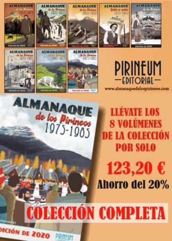 Colección completa Almanaque de los Pirineos. 8 volúmenes